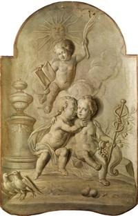 allegorische putten by hieronymus van der mij