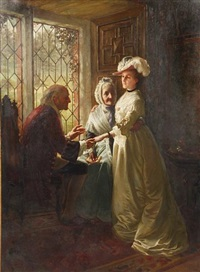 a daughter taking leave of her parents by william brassey hole