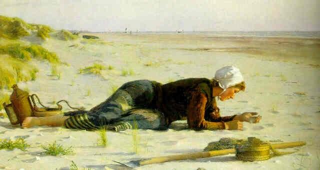 en attendant la marée basse by francis tattegrain