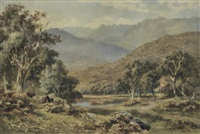 valley with cattle by james waltham curtis