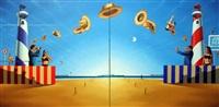 john's beach (diptych) by george henry smyth