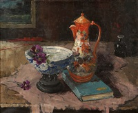 still life with oriental porcelain by jan den hengst