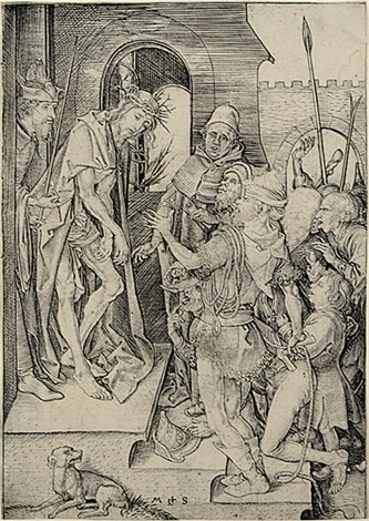ecce homo from die passion by martin schongauer