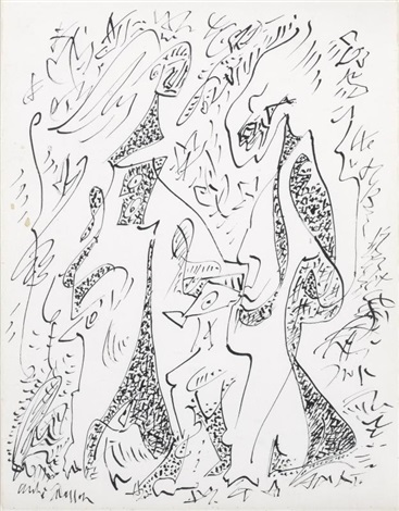 chasseresses by andré masson
