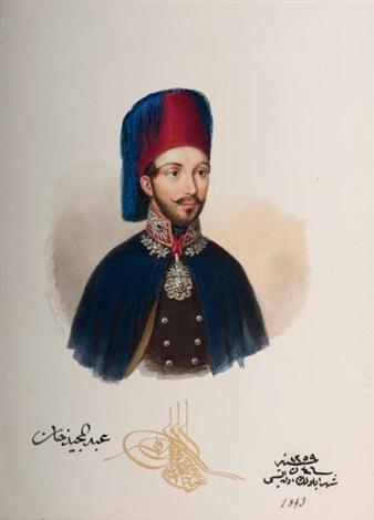 sultan abdulmecid ier by alois von anreiter