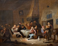 scene from the tavern by egbert van heemskerk