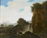 paysage à la cascade by françois jean (jean françois) sablet