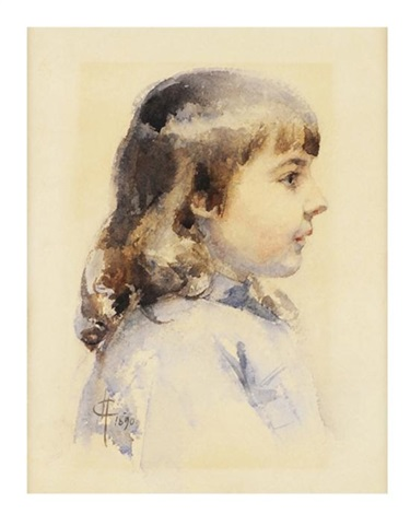 profile portrait of a girl by mary cassatt