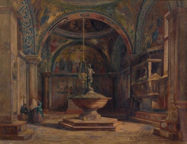 le baptistère de léglise saint marc à venise by jean baptiste van moer