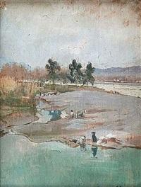 les bords du fleuve by adolphe ernest gumery