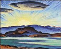 okanagan lake, sunset by james (jock) williamson galloway macdonald
