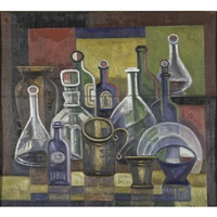 still life with bottles by ivan vasilievich klyun
