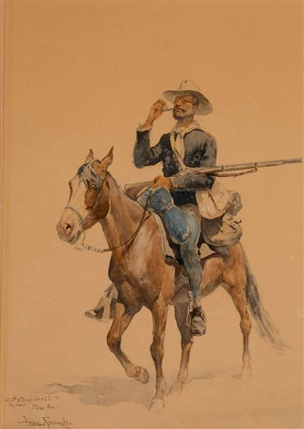 a mounted infantryman by frederic remington