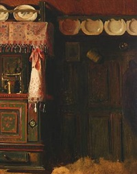 country kitchen interior by herman carl sigumfeldt