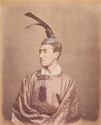 prince en habit de cour, japon by raimund von (baron) stillfried-rathenitz