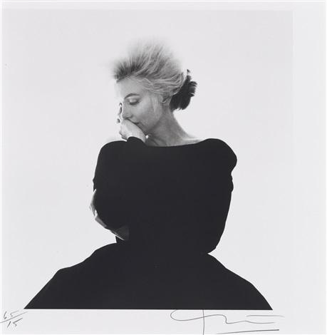marilyn monroe im schwarzen abendkleid aus the last sitting für vogue by bert stern