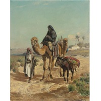 an arab traveler and his wife by george peter