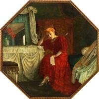 junge frau im boudoir by s. flesch-bassevi