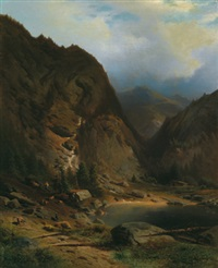 landschaft am see by conrad bühlmayer