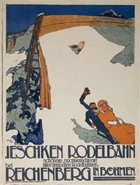 ieschken rodelbahn by posters: sports - skiing