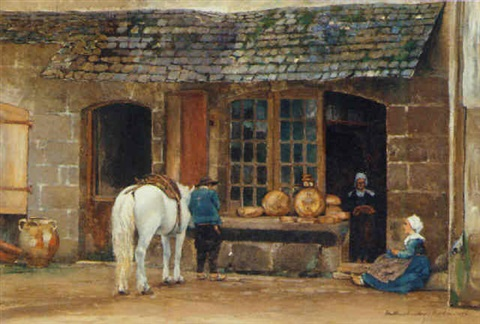 a bakers shop pont aven brittany by david maitland armstrong