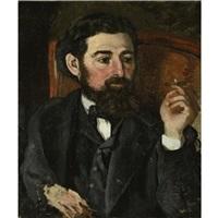 l'homme au cigare or portrait de zacharie astruc by frédéric bazille