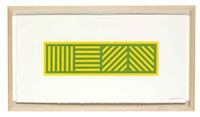 lines in four directions in color on color (set of 6) by sol lewitt