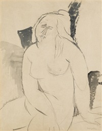nudo femminile seduto by amedeo modigliani