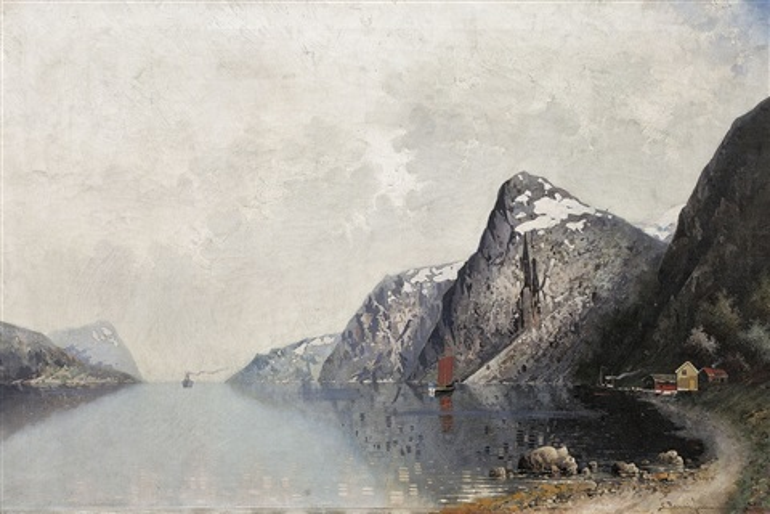 fjordlandschaft by georg anton rasmussen