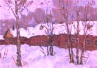 maisons rouges by nikolai maksimovich melnikov