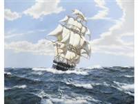 running before the wind by montague dawson