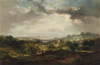 a view of london from hampstead heath by john wilson ewbank