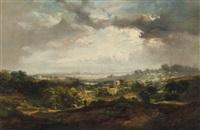 a view of london from hampstead heath by john wilson ewbank