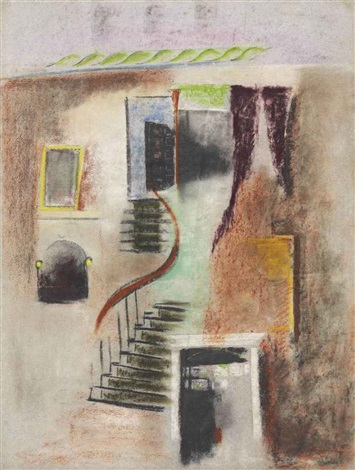 interior stairway by max weber
