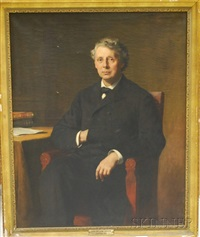portrait of a gentleman, identified as the honorable william gaston by frederick porter vinton