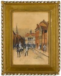 federal hall 1782 by william sullivant vanderbilt allen