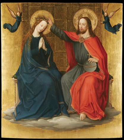 the coronation of the virgin by bernhard strigel