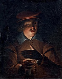jeune homme à la bougie by wolfgang heimbach