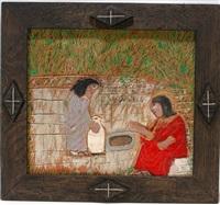 women at the well by elijah pierce