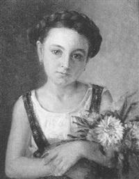 mädchen mit blumen by marie zajaczkowska