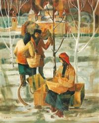 marché à novodievitchi by jean abadie