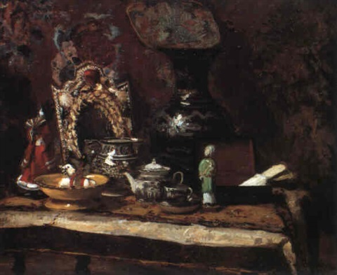 Nature Morte Au Decor Japonais By Jacques Emile Blanche On Artnet