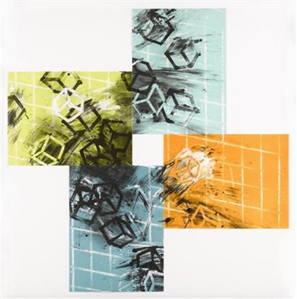 four color quartets set of 4 by mel bochner