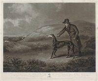 portrait of the celebrated greyhound snowball (after henry bernard chalon) by william ward
