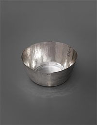 large handcrafted malja bowl, for a private commission, finland by tapio wirkkala