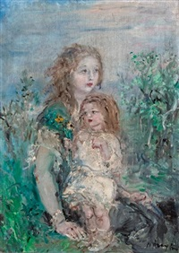 anya gyermekével by aurel naray