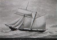 maria of douglas, william hambly commander, dec.1858 by louis marie alphonse renault