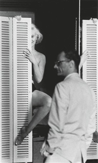 marilyn monroe with arthur miller, los angeles and marilyn monroe (2 works) by john bryson