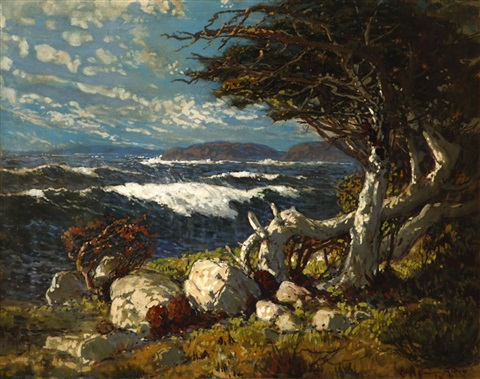 looking west from point lobos by ralph davison miller