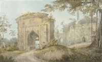 buildings near kadjipur (+ 3 others; 4 works) by edward hawker locker